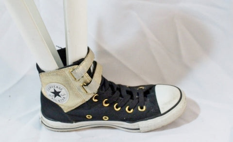 CONVERSE ALL STAR Chucks Hi-Top Sneaker Womens 6  Mens 4 BLACK GOLD