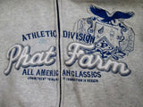 Youth PHAT FARM ATHLETIC DIVISION Hip Hop Hoodie SWEATSHIRT L Gray Jacket Rap