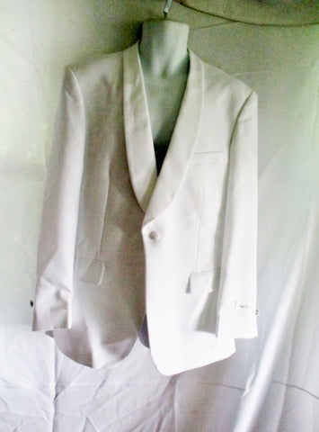 NEW NWT FIRST NIGHTER Tuxedo Sport Jacket Suit Blazer 40R WHITE Formal