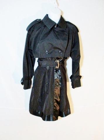 NWT NEW DRIES VAN NOTEN ROZA TRENCH jacket coat S BLACK NWT Belt