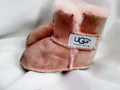 Baby Infant UGG AUSTRALIA 5202 Erin Toddler Booties BLUSH PINK S Slipper Boot