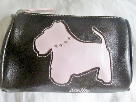 Mini MIX IT MIXIT vegan change purse wallet SCOTTIE DOG pouch case bag PINK BROWN