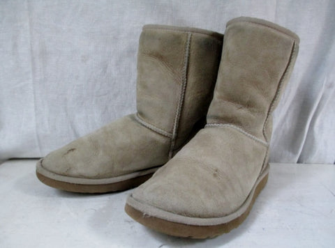 Womens UGG AUSTRALIA 5825 CLASSIC Short Suede Winter BOOTS Shoes SAND 7 Tan