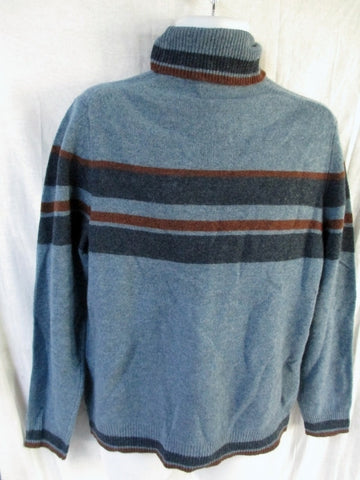 NEW NWT Mens BLACK BROWN Winter Holiday Christmas Knit Ski Sweater M Wool BLUE