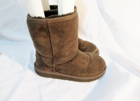 Toddler Little Girls UGG 5251T classic short suede boot sheepskin 12 CHOCOLATE BROWN