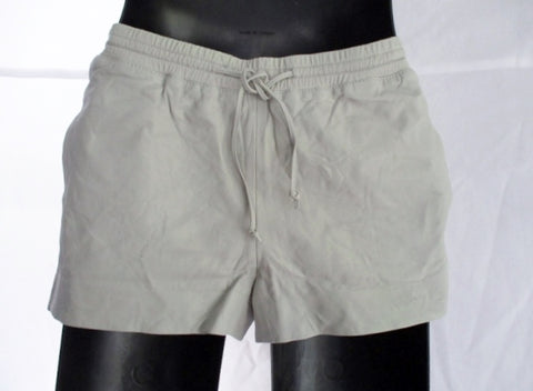 JOSEPH BRAND SHORTY NAPPA LAMBSKIN LEATHER Shorts 38 / 6 ITALY GRAY WOMENS