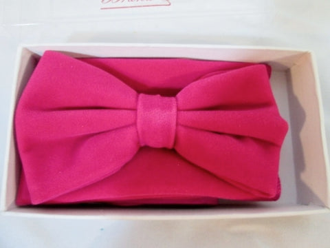 NEW Pretied VELVET BOW TIE BOWTIE TUXEDO Wedding BERRY PINK Party