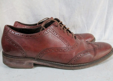 Mens COLE HAAN Lace Up Leather Dress Casual Wingtip OXFORD Shoes 11 BROWN