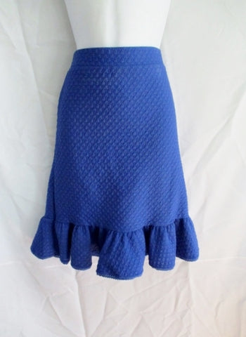 WOMENS 9-H15 STCL Anthropologie Ruffle Skirt Hipster M BLUE ROYAL Boho