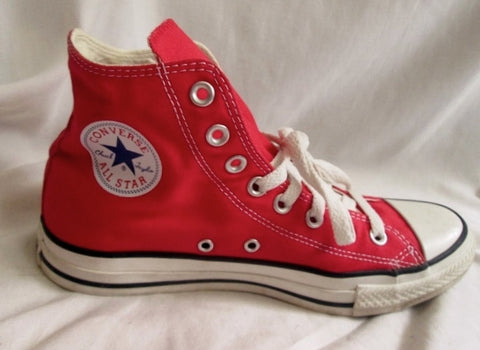 CONVERSE ALL STAR Chucks Hi-Top Sneaker Trainer Athletic Shoe RED Mens 8 Women 10
