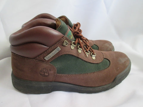 Mens TIMBERLAND 10025 Leather HIKING Boots Trekking BROWN 10.5 GREEN