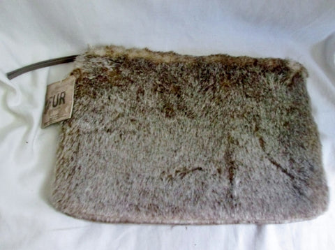 "NEW Restoration Hardware Faux Fur Linx Beige Ipad Tablet Nexus 10 Case 13 X 8.5"" Pouch"