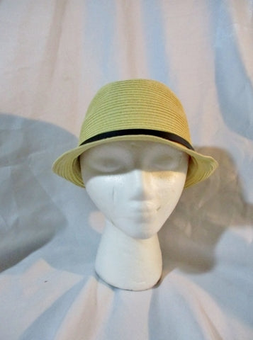 CASA BARRERA Natural STRAW Sun Hat Bucket 59cm Woven Womens