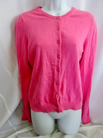 Womens Ladies LILLY PULITZER Cotton Cardigan Sweater COTTON CANDY PINK M