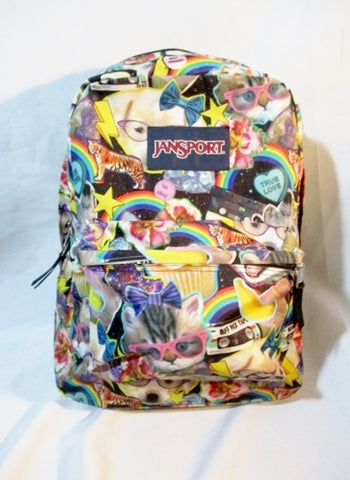 JANSPORT Travel Book BAG Backpack Rucksack Bag School CAT DOG FUN