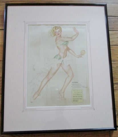 Vintage 1940s Alberto Vargas COVER GIRL Pinup Girl ART Print MISS OCTOBER Pin-Up