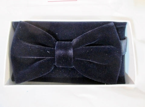 NEW Pretied VELVET BOW TIE BOWTIE TUXEDO Wedding NAVY BLUE Party