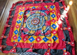 "63"" INDIA ELEPHANT POMPOM Tapestry Blanket COVER Bedspread Throw Wall Art MULTI"