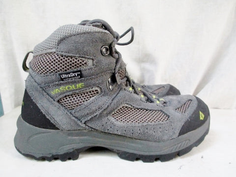 Youth VASQUE BREEZE Boots SHOES Outdoor Leather WATERPROOF Hiking GRAY 5 ULTRADRY