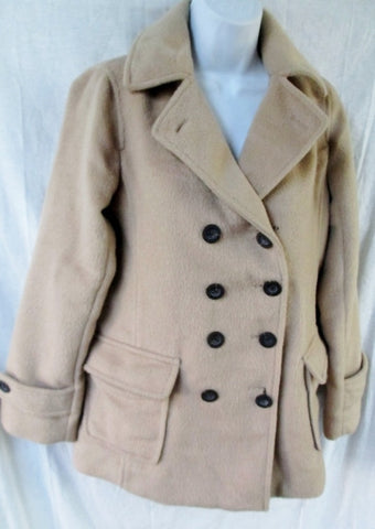 E Hyphen World Gallery Wool jacket coat Peacoat CHESTNUT BROWN S