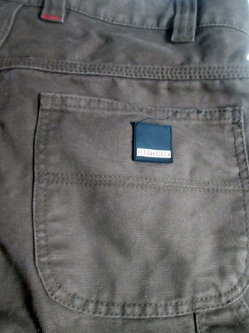 MENS CRAFTSMAN Dungaree Fit Pants Jeans Work Outdoor BROWN 36 X 29 Carpenter