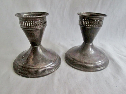 DUCHIN CREATION Set 2 STERLING SILVER Candelabra Candle Holder Candlestick Weighted