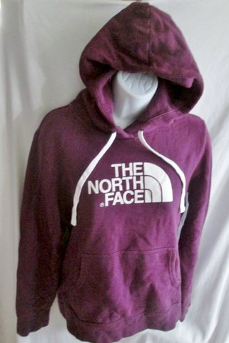 Womens THE NORTH FACE Signature Hoodie SWEATSHIRT Jacket M PURPLE WHITE