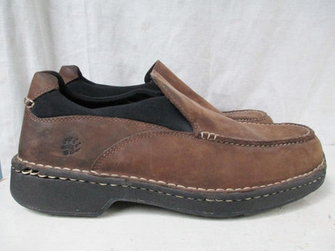 Mens WOLVERINE DURASHOCKS NATHAN Leather Walking Shoes Mocs BROWN 11.5