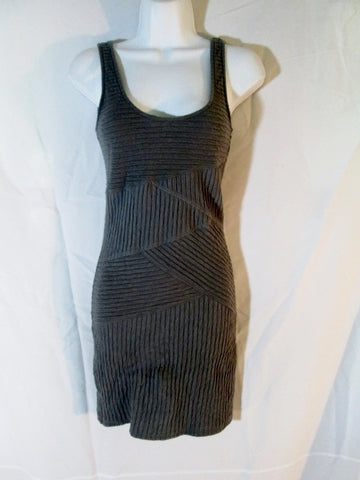 Womens FREE PEOPLE ANTHROPOLOGIE Mini Bodycon ZIGZAG Dress S / P Gray Grey