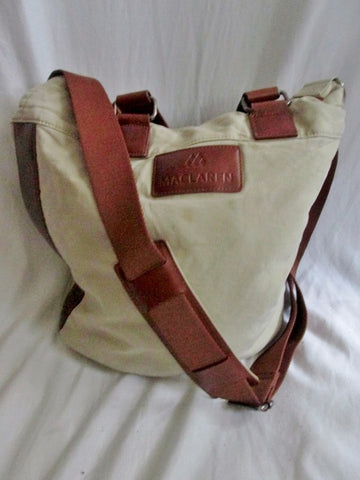 MACLAREN diaper changing canvas leather carryall leather TAN KHAKI