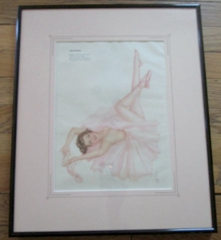 Vintage 1940s Alberto Vargas COVER GIRL Pinup Girl ART Print MISS DECEMBER Pin-Up