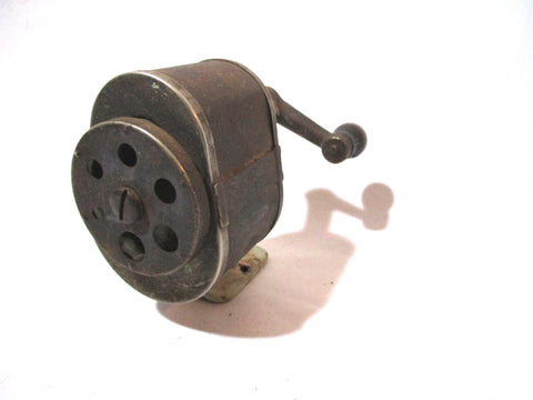 Vintage AUTOMATED PENCIL SHARPENER 6 HOLE Table Wall Crank School Office