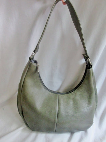 LE DONNE LEATHER COLLECTION Colombia Handbag Satchel Purse Hobo MOSS GREEN