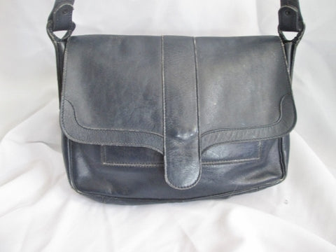 BRASIL BRAZIL leather satchel shoulder hobo saddle flap bag man purse BLACK Pockets