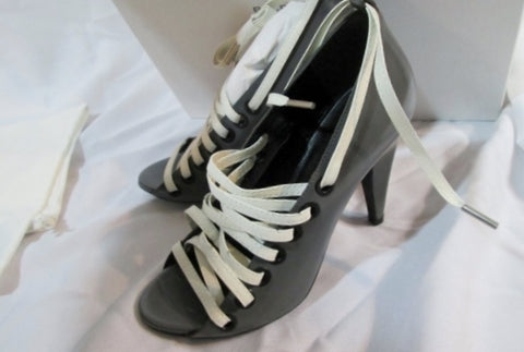 NEW Womens BALENCIAGA GREY CUT OUT Pump Shoe 36.5 / 6 Pointy Toe