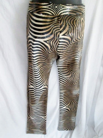 NEW WOMENS CACHE ANIMAL PRINT TIGER ZEBRA LEOPARD Disco Party Pants 2 Snakeskin