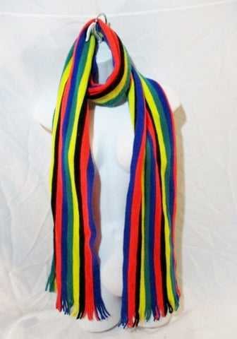 UNIQLO JW ANDERSON Knit NECK Warmer SCARF Wrap RAINBOW STRIPE Heattech