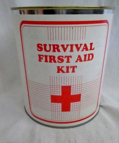 Vtg Apocalypse SURVIVALIST BOMB SHELTER FIRST AID SURVIVAL KIT Can S.I. Equipment