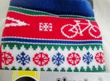 NEW DeFeet AirEator X-MAS SWEATER SOCKS BIKE RED W 11-13 / M 9.5-11.5 Bicycle