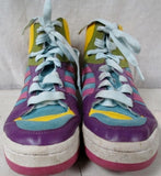 EUC Womens ADIDAS Hi-Top Basketball Sneaker Athletic Shoe Boot 8 PURPLE PINK