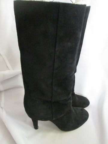 Womens ASH Sheath Suede Leather Stiletto Boots Shoes BLACK 36 / 5.5