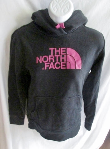 Womens THE NORTH FACE Signature Hoodie SWEATSHIRT Jacket M BLACK PURPLE