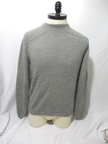 JIL SANDER CASHMERE Panel Sweater GRAY GREY L Mens Jacket Jumper Crewneck