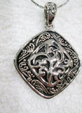LIA SOPHIA CELTIC KNOT DRUID NECKLACE CHOKER Collar Jewelry Pendant Statement