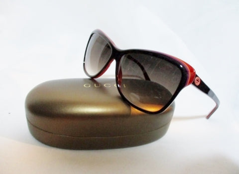 NEW GUCCI  ITALY GG 3191/S CAT'S EYE Sunglasses BROWN RED BLACK