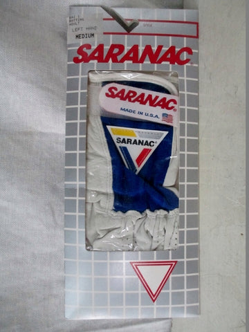 NEW Mens Womens SARANAC Leather BATTING Glove BLUE M - Left Hand