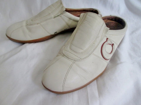 Womens COACH SUSIE Leather Clog Shoe Signature Sneaker Athletic WHITE 8