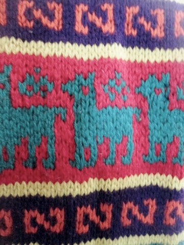 Mens Womens Lucky Brand Llama Knit Ethnic Neck Warmer Scarf Hipster
