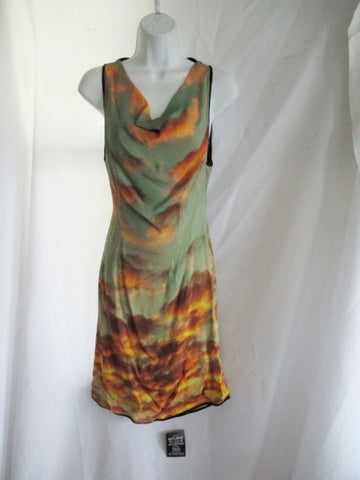 NWT New CHRISTOPHER KANE Silk Sleeveless Dress 12 SUNSET CLOUDS