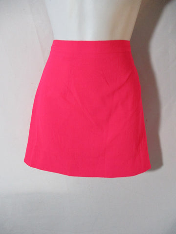 NEW CHRISTOPHER KANE CREPE Mini Skirt 8 NEON FLUORESCENT PINK NWT